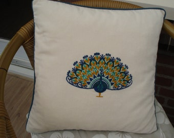 Peacock on pillow