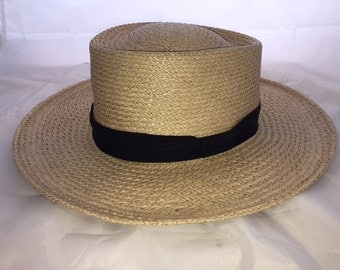 100% Genuine Natural Straw Woven Hat