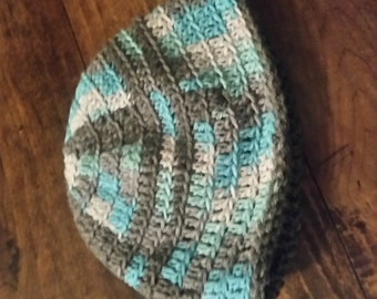 reversible beanie with matching scarf