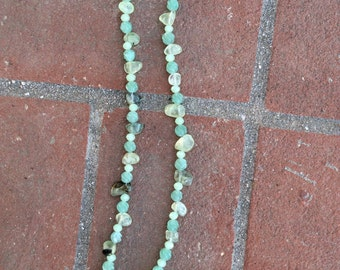 """22"""" greengarnet with drusy agate"""