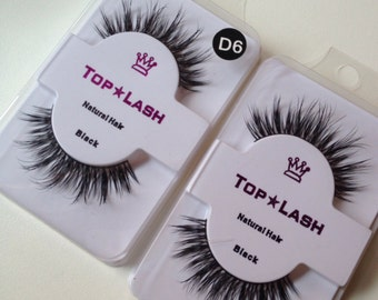 2pairs mink false eyelashes top