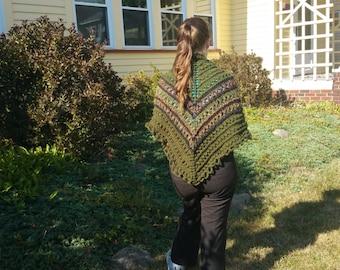 Handmade Shawl - Color: Irish Lass