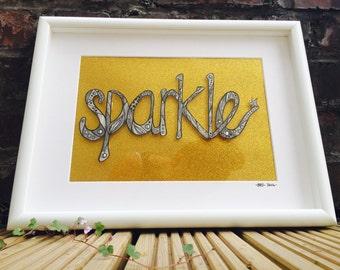 Sparkle - Framed Original Pen and Ink Drawing