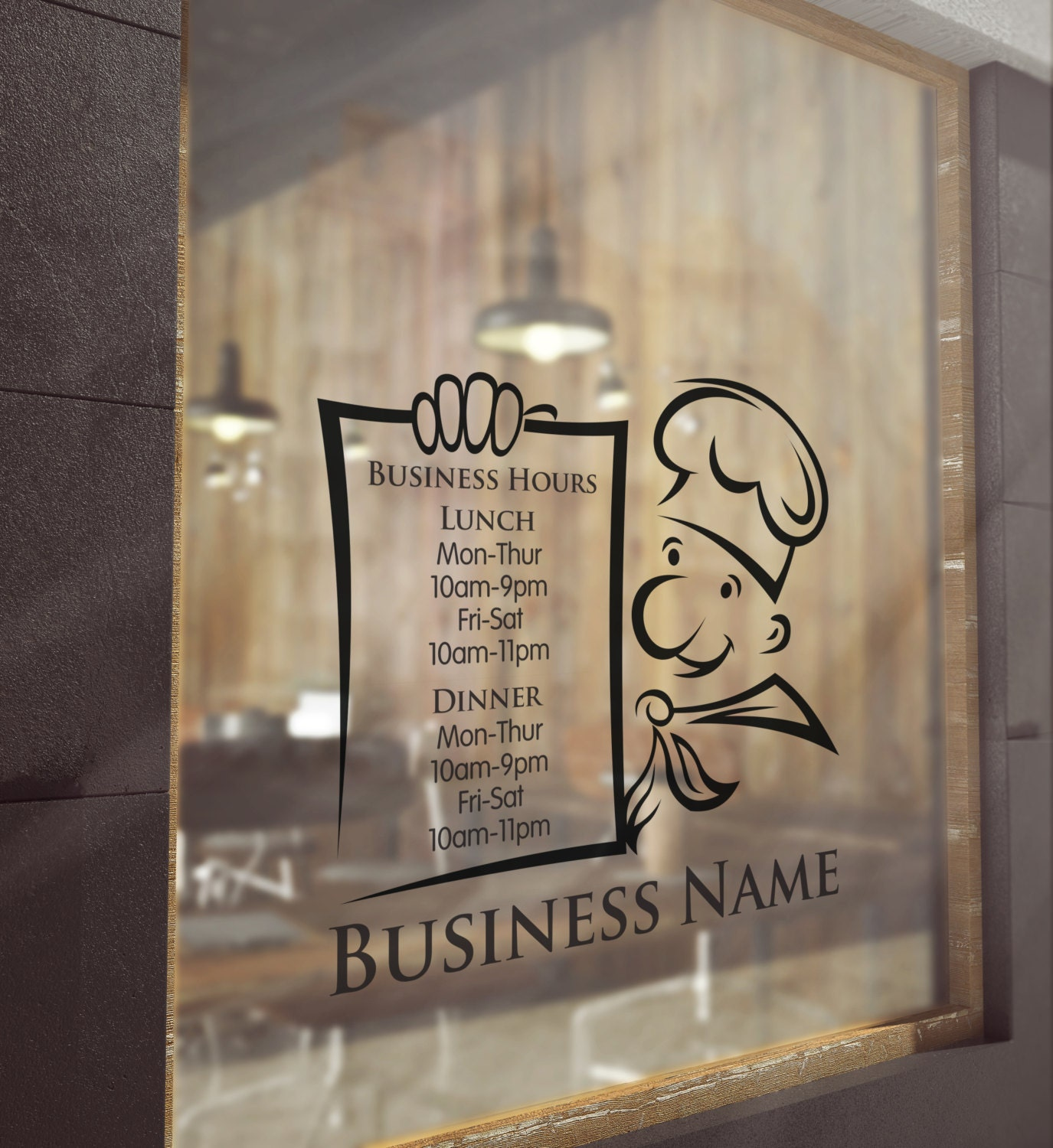 CUSTOM WINDOW DECAL Business Hours Window Decal Store Open - Window stickers for business hours