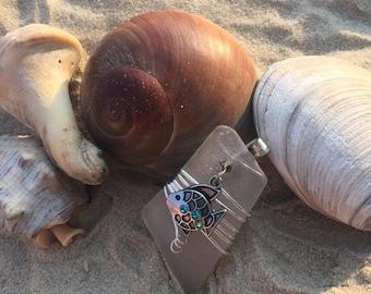Little Fishy Genuine Sea Glass Pendant