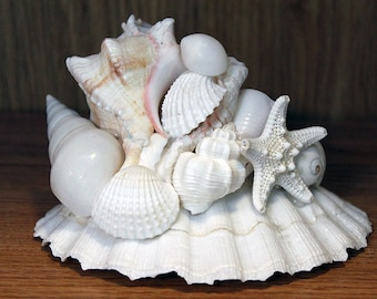 Beach Wedding Centerpiece, Table Centerpiece, Nautical Decor Centerpiece, Beach Decor Centerpiece, Shell Centerpiece