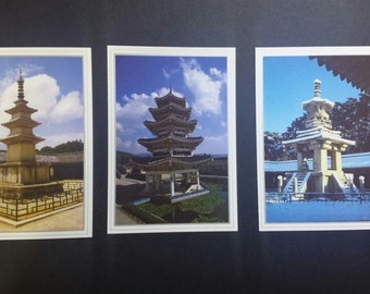 Korea Gyeongju Tourist Spot Attraction Post Card 6Sheets Collection 3