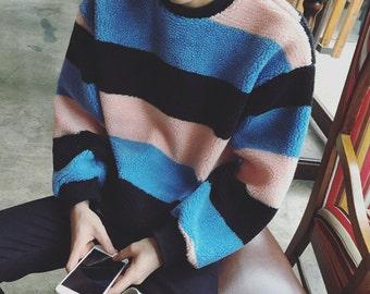 Vintage Retro Striped Sweater