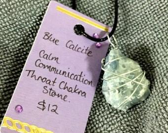 Blue Calcite Pendant