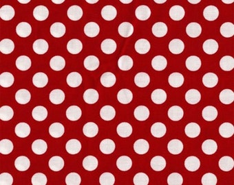 Red Polka Dot -Ta Dot Fabric by Michael Miller