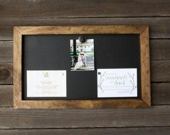 Rustic Chalkboard | Magnetic Chalkboard | Sign | Wedding Chalkboard | Wedding Decor | Farmhouse Home Decor | Industrial Magnetic Chalkboard