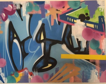 Work of SOFER graffiti street art