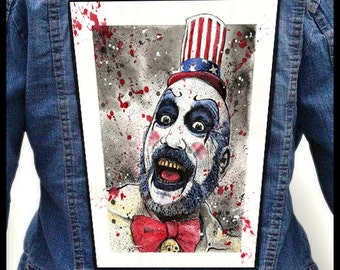 CAPTAIN SPAULDING --- Backpatch Back Patch / Rob Zombie House 1000 Corpses