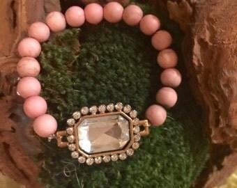 antique finish beaded bracelet