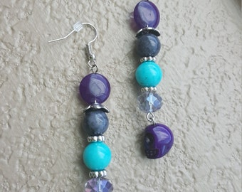 Skull dangle earrings, multiple colors