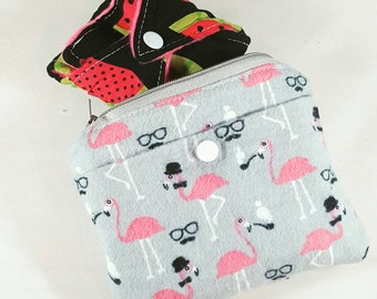 Small wet bag reuasable pads zipper waterproof customizable