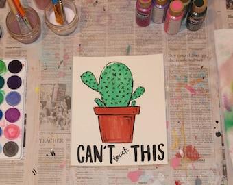 """7.5"""" x 9"""" Watercolor Print - """"Cactus"""""""