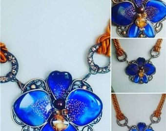 "Necklace""For the blue bird"""