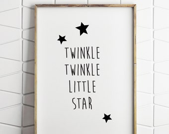 baby wall art, word wall art, childrens wall art, printable wall art, little star wall art, little star print, little star printable