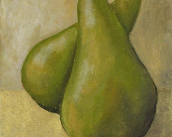 Green Pears - Acrylic Painting
