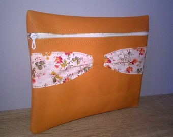 leather pouch orange