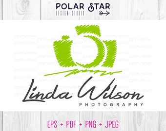 Premade Logo and Watermark -  Customized For Photography / Any Business - Vector Logo Design (054)