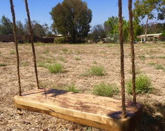 Reclaimed Wood Swing - Indoor Swing - Outdoor Swing - Solid Maple - Adult - Child