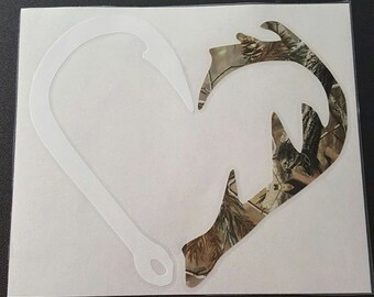 Hook and Antler Decal