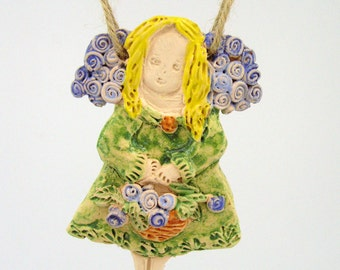 Angel, pottery angel, angel décor, ceramic angels