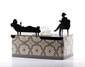 In Her Treatment - Tissue Box Cover - Rectangular