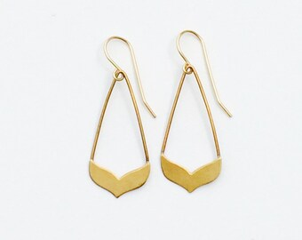 Small Whale Tail Earrings by Exquisite Machine