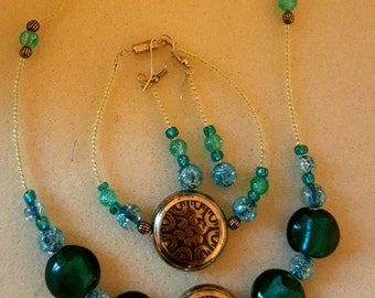 Necklace Earings and Bracelet