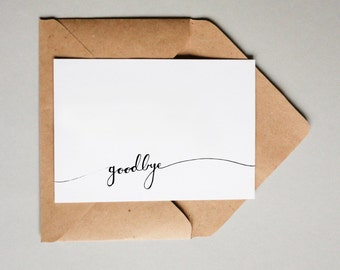 Goodbye Banner // Downloadable and Printable // Digital // Hand Lettered // Greeting Card // Just Because