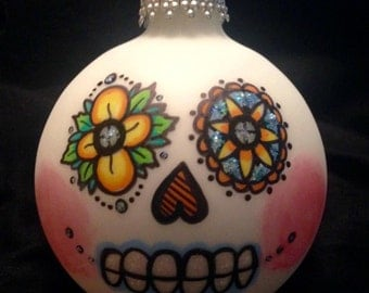 Dia de los Muertos (Day of the Dead) hand-painted ornament