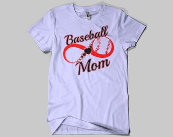 Baseball Mom Infinity T-Shirt