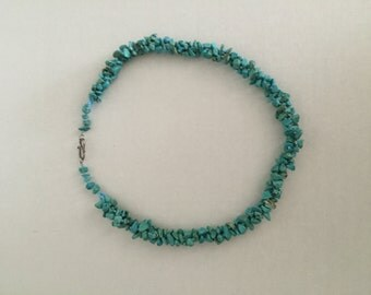 Turquoise Necklace Vintage; Large, Heavy