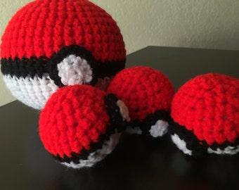 Pokeballs, crochet pokeballs, Pokemon go, great ball, ultra ball, master ball