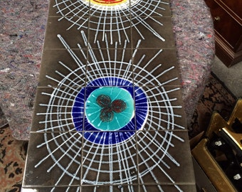 1960's art tiled coffee table