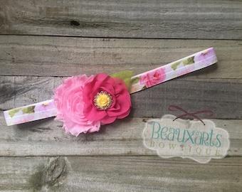 Shabby/Chiffon Flower Headband