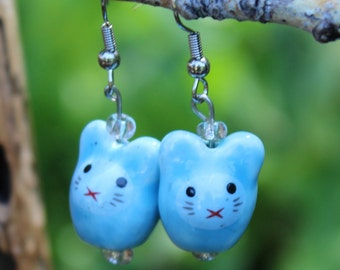 Bunny Blue earrings
