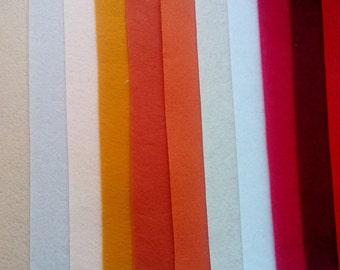 14 color mix felt