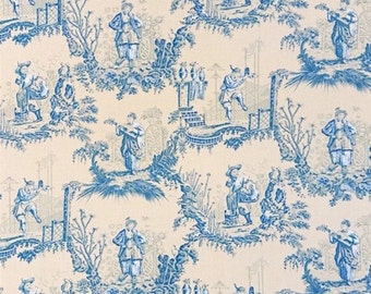 Toile de Jouy Japanese fabric - Size 1 quantity 50cmX140cm - Publisher French Charles Burger - 100% cotton