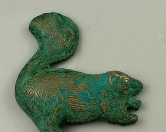 Beaver Stamping Brass Patina Bohemian Brass Jewelry Findings #414