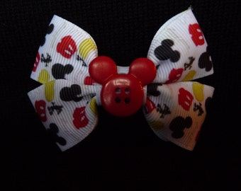 Disney bow - Mickey Parts - red button