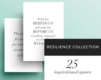 Resilience: Set of 25 - Printable Inspirational and Motivational Quotes