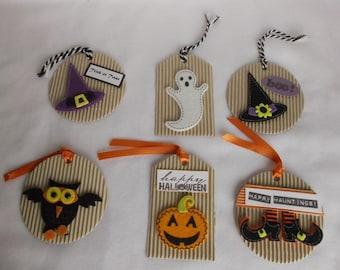 Halloween Tags, Handmade, Halloween Treat Bag Tags, Halloween Baked Goods Tags, Halloween Gifts Tags