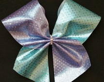 Metallic Purple and Blue Cheer Bow