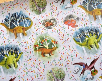 Dinosaur birthday Party gift wrap present Wrapping Paper