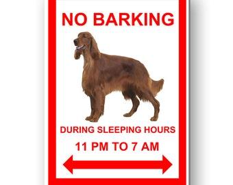Irish Setter No Barking Fridge Magnet