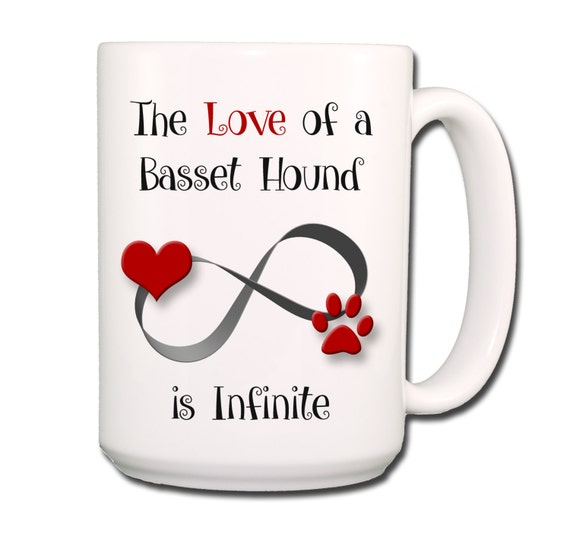 Basset Hound Infinite Love Large 15 oz Ceramic Coffee Mug